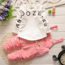 Retail children suits 2016 New kids clothes boys and girls baby long sleeve cotton Minnie casual