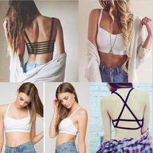 HOT 2016 New font b Fashion b font Hollow Out stripe Camis font b Women b