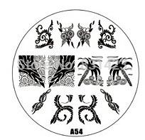 2015 new A Series A54 Nail Art Polish DIY Stamping Plates Image Templates Nail Stamp Stencil