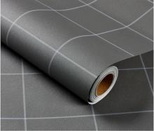 Новые водостойкие обои с узором из цементного серого льна, однотонные самоклеящиеся настенные наклейки для спальни, мебели для шкафов(Китай)