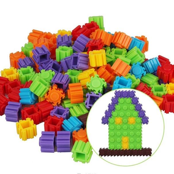 e2bd492d2 200 Pcs Multicolor Plastic Building Kids Baby Toy DIY Puzzle Educational  Learning Developmental Toy Brain Game Mini Dots puzzles