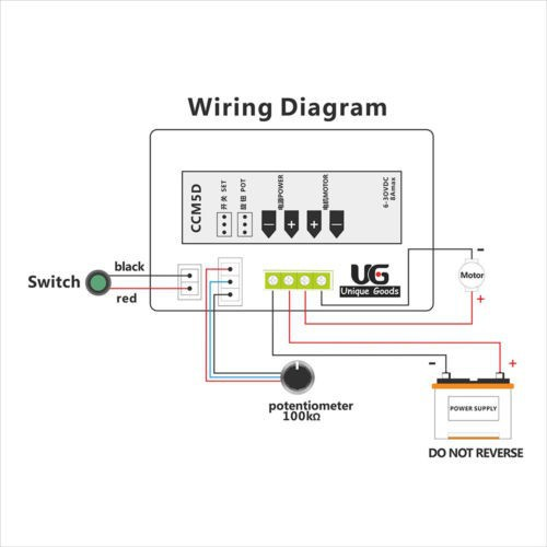 variable speed control wiring diagram variable speed drive wiring diagram digital display led 6v 12v 24v pwm dc motor controller ...