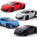 1 32 kids toys Fast and Furious 7 Lykan Hypersport Mini Auto metal toy cars model