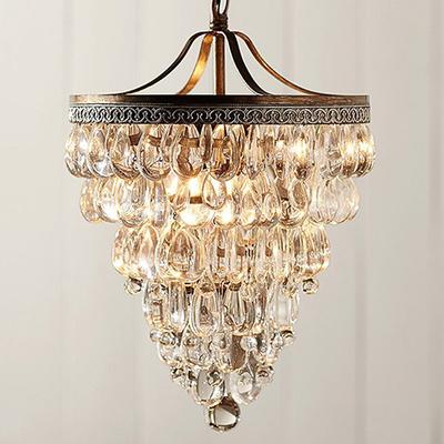 lustres de cristal vintage crystal bar table lamp pendant lights bedroom art deco chandelier e14. Black Bedroom Furniture Sets. Home Design Ideas