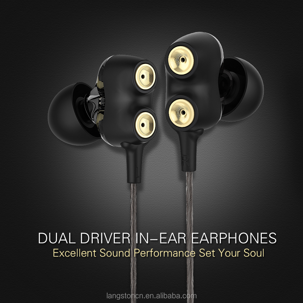 langsdom d2 dual driver earphones in ear headset earbuds with mic auriculares audifonos for. Black Bedroom Furniture Sets. Home Design Ideas