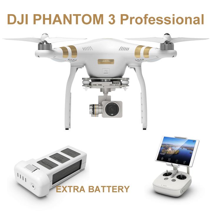 New DJI Phantom 3 Professional Drone 4K CameraExtra Batt