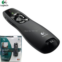 Logitech Wireless Presenter R400 2.4GHz Mini Red Laser Pointer Presenter PPT Puntero Laser Presentaciones