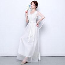 2020 длинное красивое белое платье для подружки невесты с коротким рукавом, платье для выпускного вечера, платье для свадебной вечеринки, Раз...(Китай)