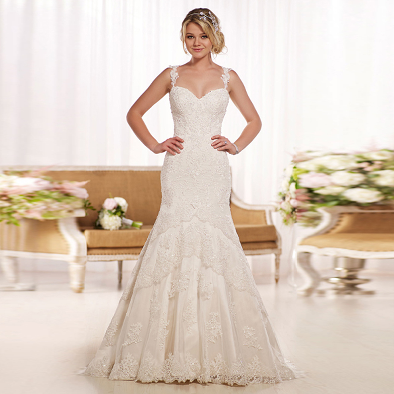Lace Wedding Gown With Straps: Aliexpress.com : Buy 2016 Spaghetti Straps Sweetheart