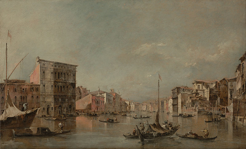 Canvas Art Prints Stretched Framed Giclee Famous Artist Oil Painting Francesco Guardi <font><b>Italian</b></font> Grand Canal Venice Palazzo Bembo