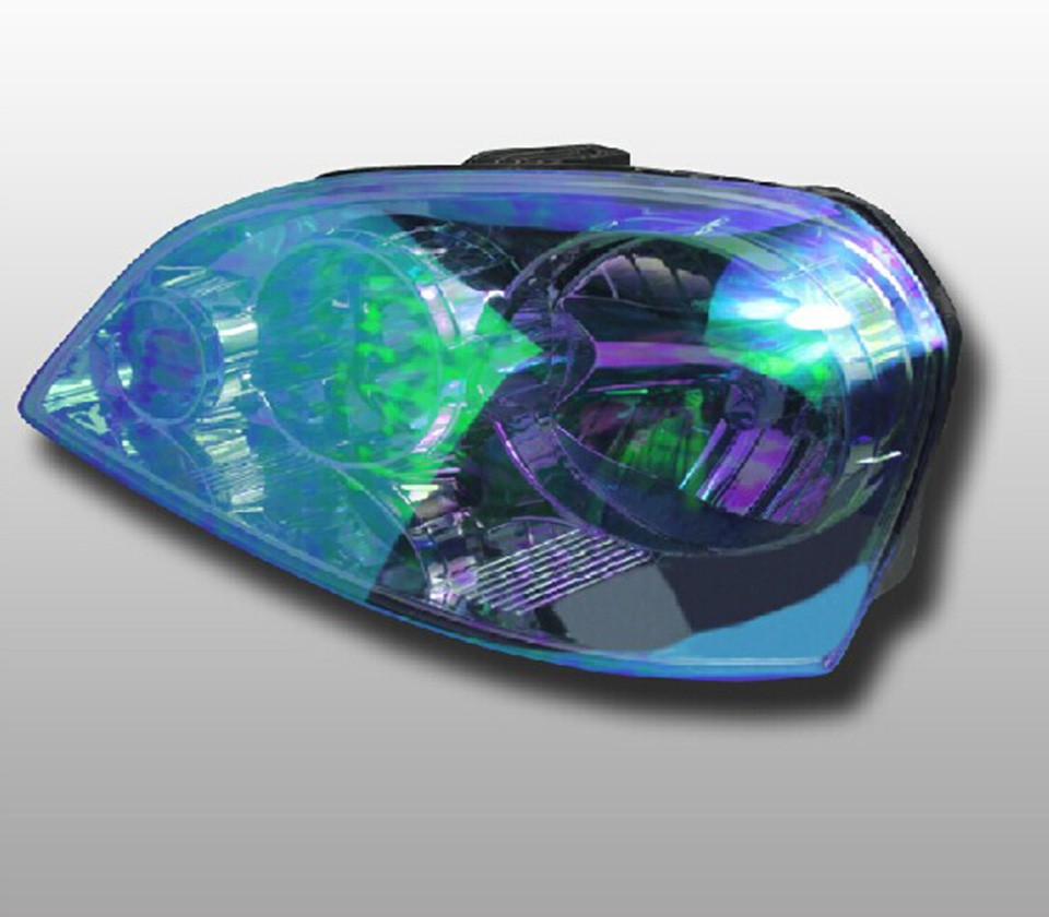 0 3x10m1x33ft New Arrival Chameleon Headlight Tint Dark Blue For Car Head Trail Decoration