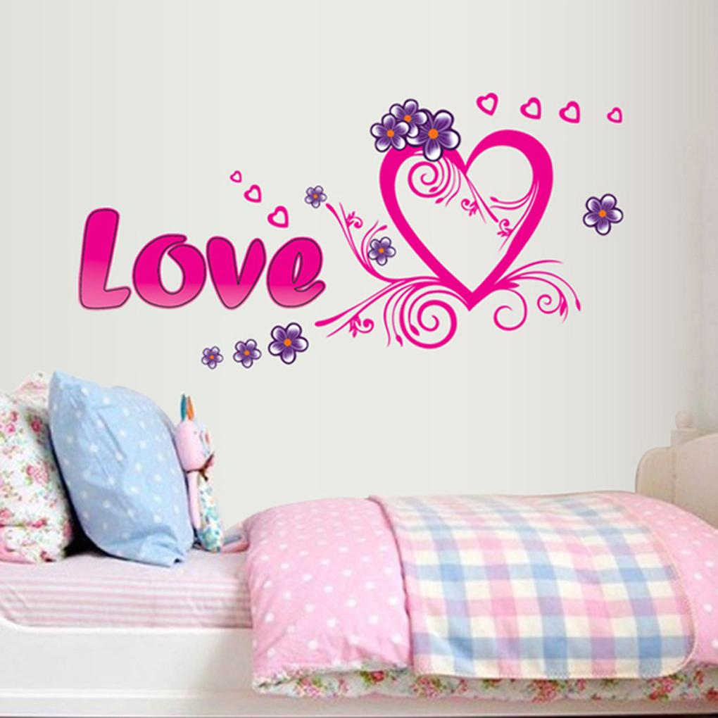 Warm design love Sweethearts Cozy Bedrooms Background Stickers home decor Removable Wall Decals Stickers
