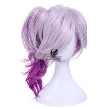 Головной убор для косплея ROLECOS, с героями игры LOL, Luxanna, 30-45 см, цвет темно-синий, цвет белый, фиолетовый, волосы для косплея(Китай)