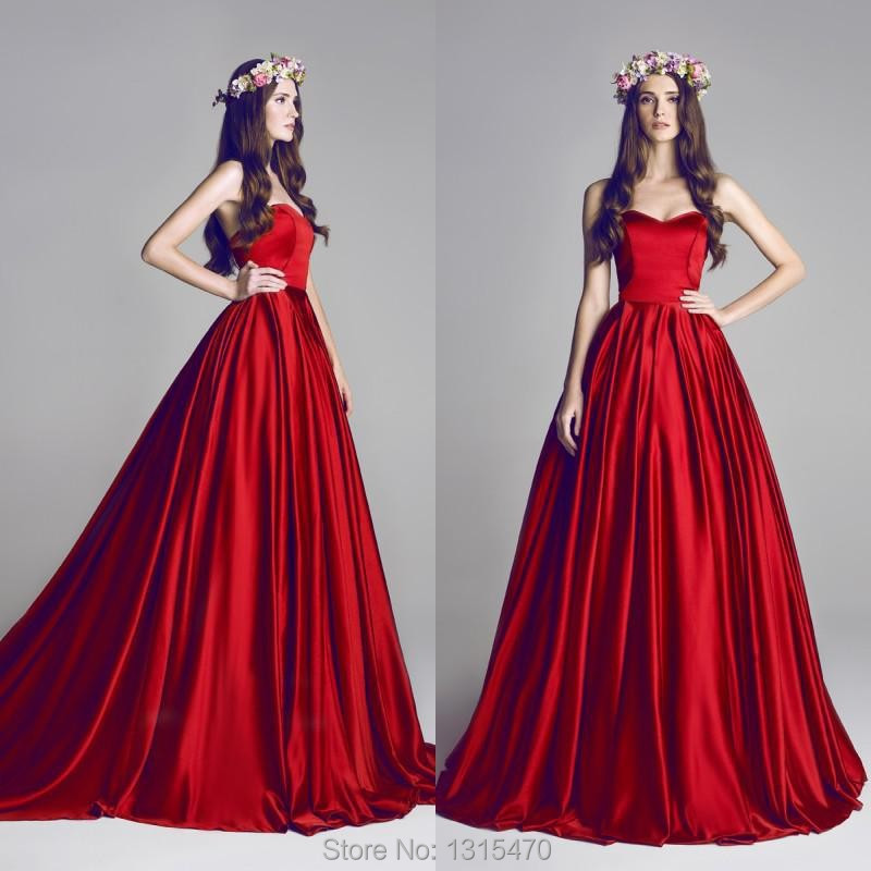 73b0000890 2016 NEW ARRIVAL LONG PUFFY PROM DRESSES RED BALL GOWN EVENING DRESS  VESTIDO DE FESTA LONGO VERMELHO STRAPLESS GOWNS-IN PROM DRESSES FROM  WEDDINGS   EVENTS ...