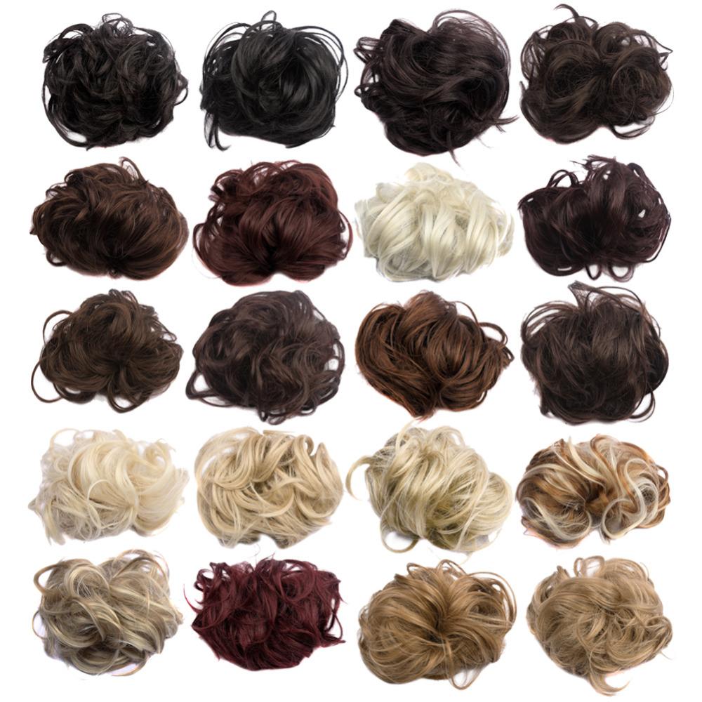 New Arrive Synthetic Hair Bun 35g Elastic Curl Hair Scrunchie Summer Hot  selling Women Fake Hair ca123a4cb