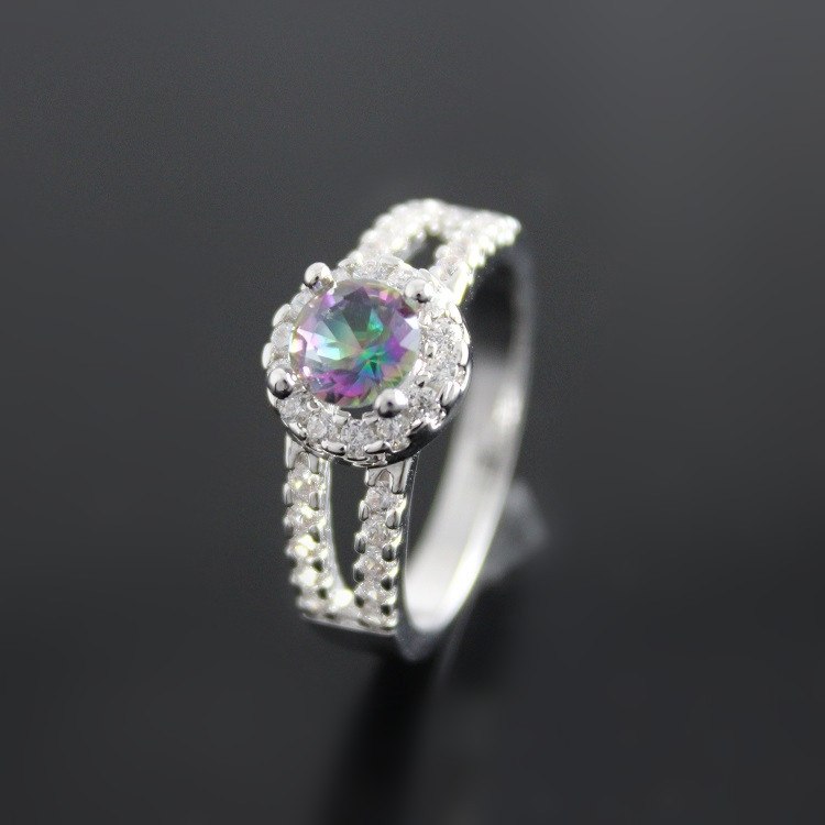 Aliexpress.com : Buy Flowers Wedding Women Rings Rainbow
