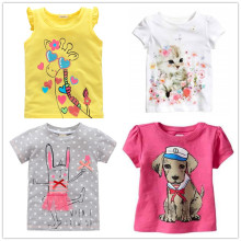 OneToo 2-10 years baby Girl t-shirt big Girls tees shirts children blouse big sale super quality 100% cotton kids summer clothes