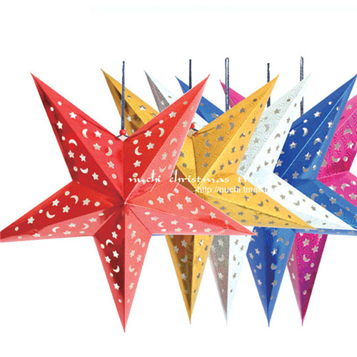 Christmas Ornaments 10pcs/lot Five-pointed Star 30cm 40cm 45cm 60cm Christmas Home Decorations New Year Gifts Boneco De Natal