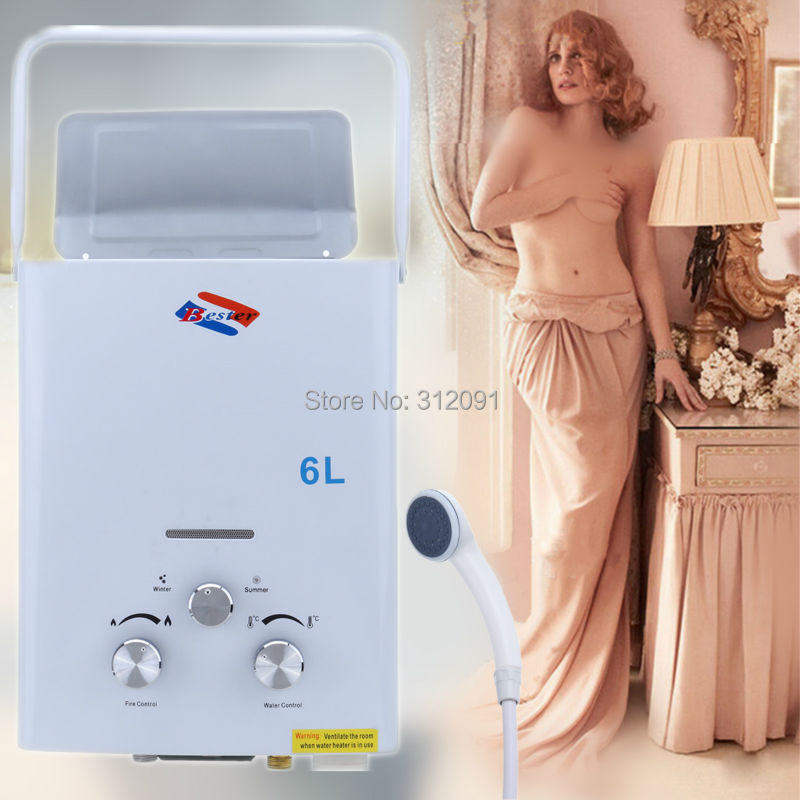 Ship From Au Portable Shower 6l Lpg Propane Gas Tankless