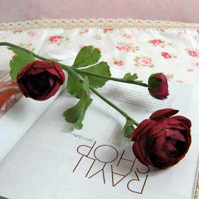 Artificial camellia Spring artificial flowers home decoration plastic and silk rose flowers  mix color 10pcs/lot