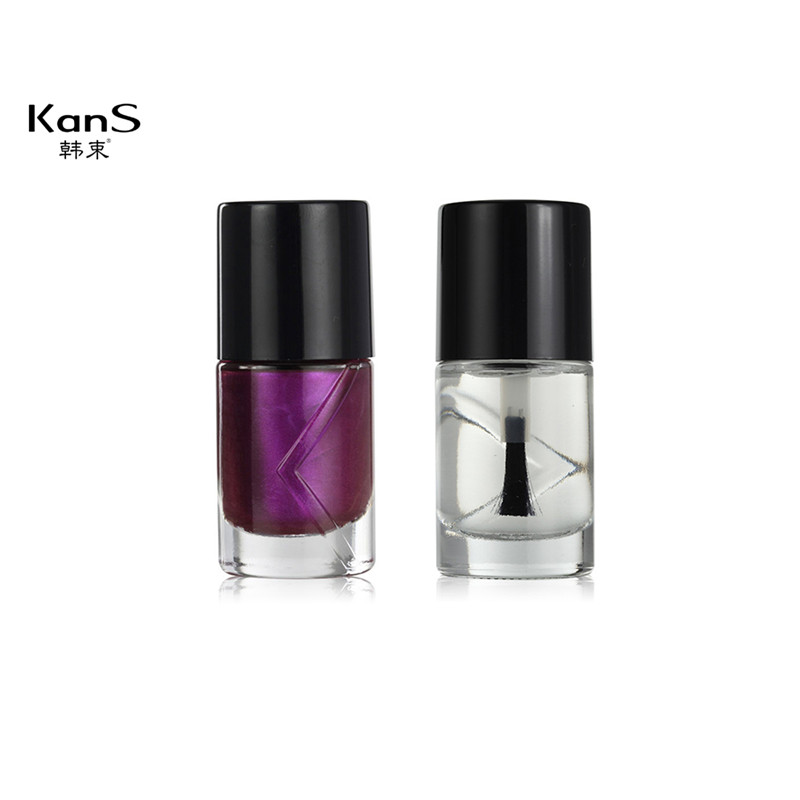 2X11 ML KanS Waterproof Gel Polish Makeup No Smell Nail Lacquer Dry Quickly Long last Transparent