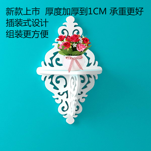 Modern minimalist wall mount shelf wall flower garden decorative frame clapboard home decorative wall shelving shelf