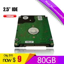 80GB HDD IDE 2.5″ HDD SATA 80GB 5400RPM HD xbox 360 Notebook Hard Disk Drive interno Disco Duro Hot Selling