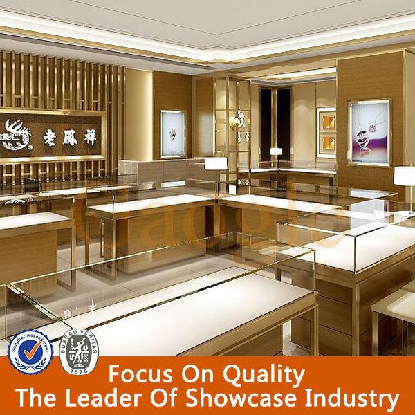 Modern High End Fashion Jewellery Showroom Designs Counter