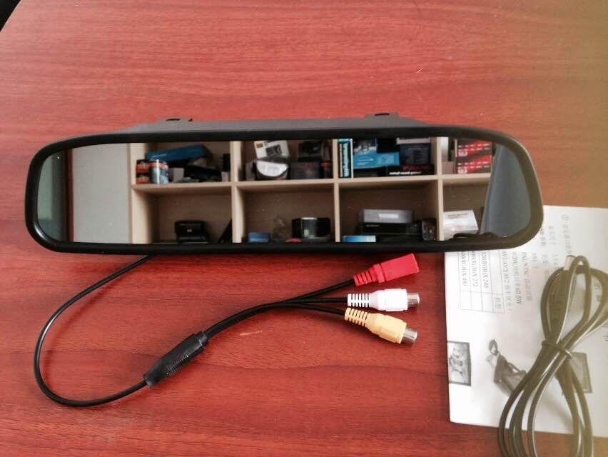 4 3 polegada lcd voiture moniteur miroir vid o capteur de stationnement avec cam ra de voiture. Black Bedroom Furniture Sets. Home Design Ideas
