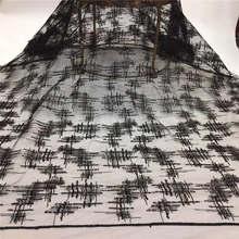 Черная французская кружевная ткань с блестками зеленая африканская кружевная ткань высокого качества 2020Net кружево нигерийский материал пл...(Китай)