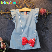 Summer Brand Infant Dresses Baby Girls Clothes Kids Clothing Set Cute Toddler Princess Dress+Bag Children Dress 0-7Years BC1139