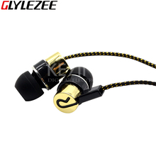 Mini Metal In-ear Cloth Line Earphone Wired Headset Earbuds Jack Standard Noise Isolating 1.1M Reflective Fiber 3.5mm Stereo
