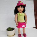 2016 Spring New 18 Inches American Girl Doll Clothes Best Gift For Kids Sun Hat Skirt