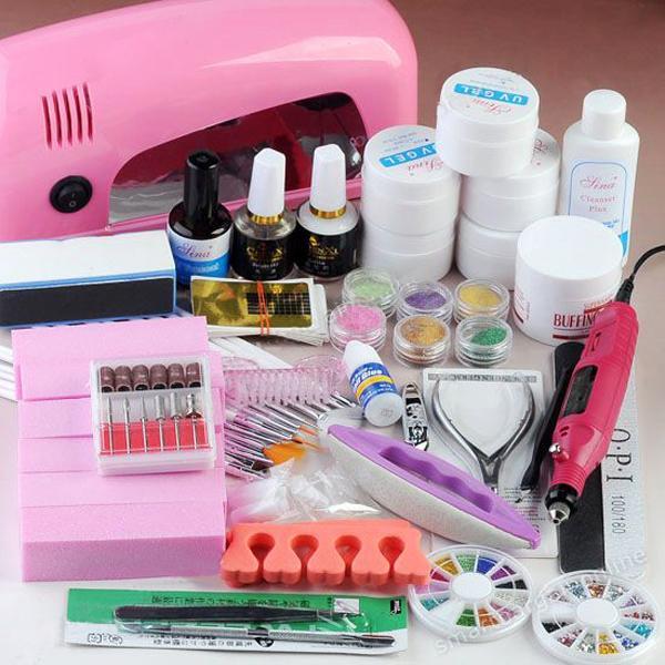 Aliexpress Com Buy Nail Art Salon Supplies Kit Tool Uv: Professional UV Gel Lamp Dryer Manicure Curing Salon Kits