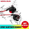 MOOLSUN Bluetooth Sport Wireless Earphones Earpiece Waterproof Stereo Music Headset for Phone Earphone With Mic Outdoor