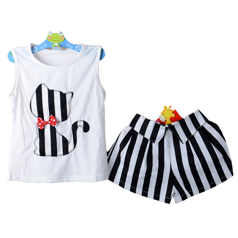 baby girls set T shirt shorts The children s suit Clothes beautiful girls children s clothing