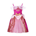 Girls Disfraz Elsa Cinderella Fairy Tale Princess Sequin Print Straps Elf Fairy Costume Dress 080609