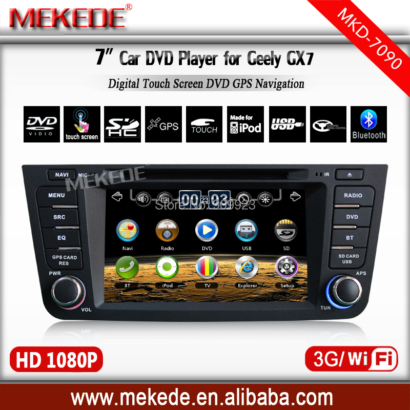 Free Shipping High Quality 3G HOST+WIFI+GEELY GX7 Car Dvd Player With GPS