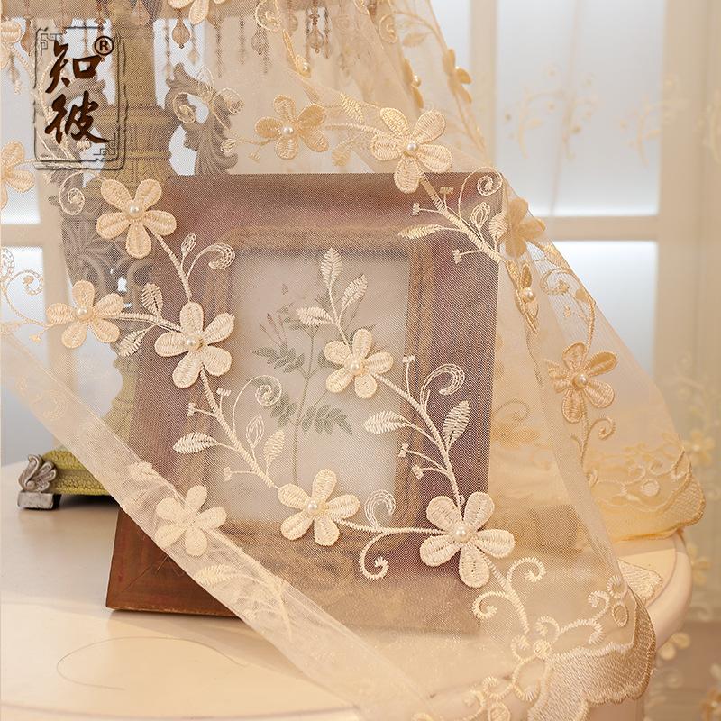 nail perla en relieve bordado rural europeo nuevo tipo europa cortina escarpada tul hilo para saln comedor dormitorio