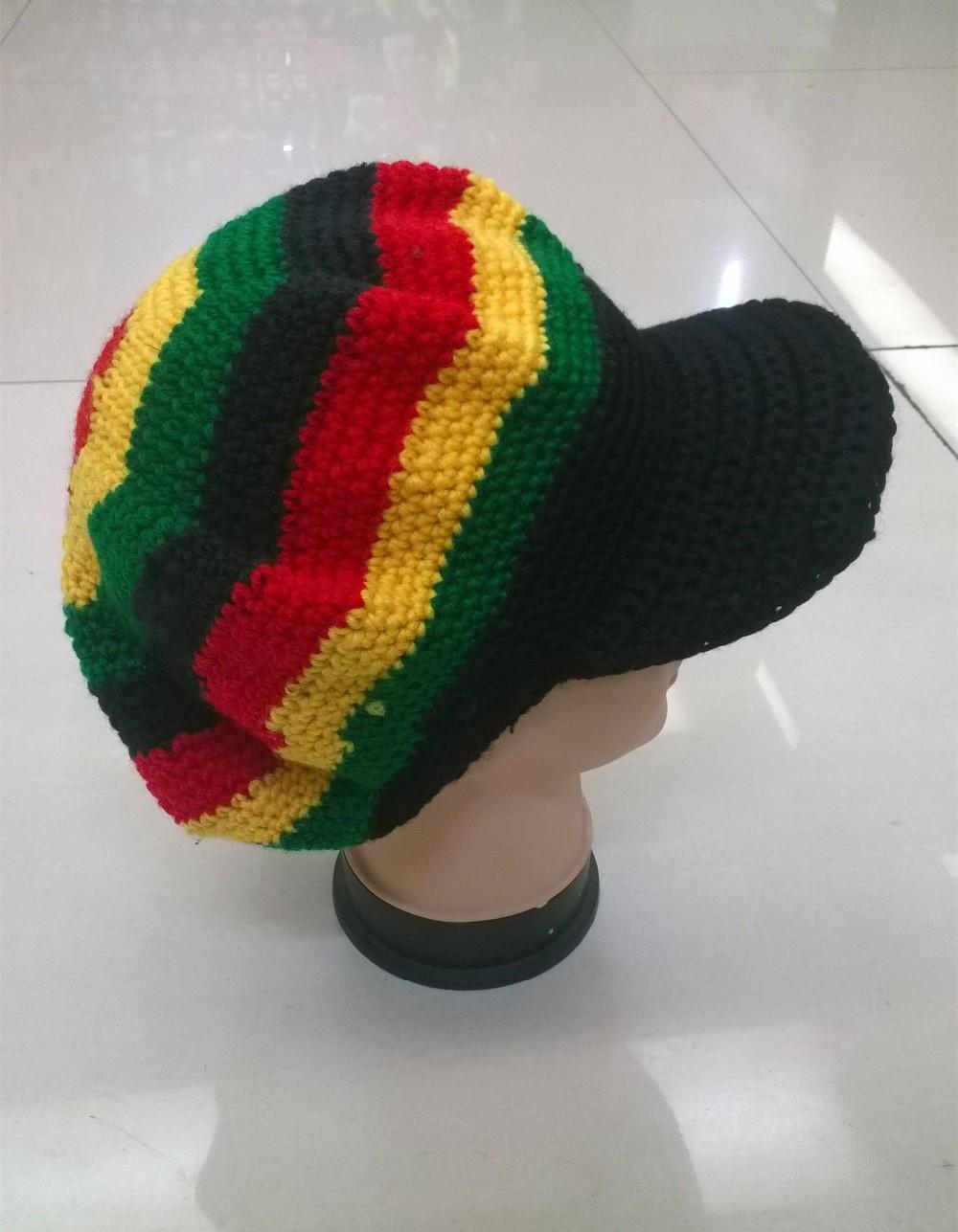 46a86030eca14 2019 Bob Marley Jamaica Rasta Beanie Hat Warm Cap Winter Reggae ...