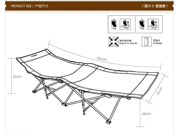 Wholesale South Korea Imported Outdoor Single Folding Camp