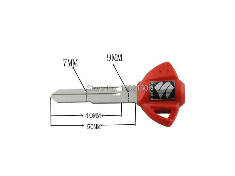 Красный одного корыта ключ для Suzuki GSXR600 750 1000 1300 SV650 1000 мотоцикл кодовый бланк с лезвием