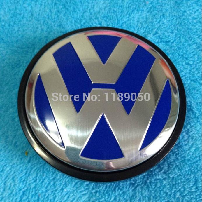 4pcs 55mm blue vw wheel center hub cap cover sets fits for. Black Bedroom Furniture Sets. Home Design Ideas