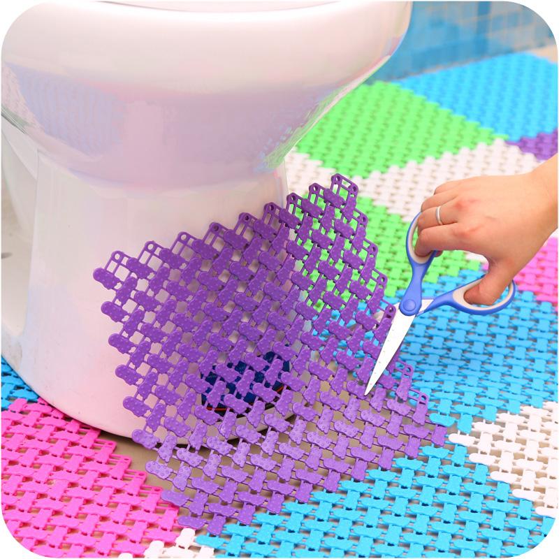 salle de bain antid rapant pvc tapis de bain tapis hydrofuge color au sol tapis carr. Black Bedroom Furniture Sets. Home Design Ideas