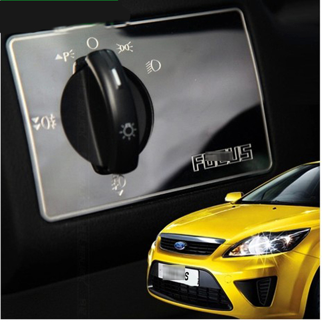 high quality stainless steel headlight switch adjustment button stickers for ford focus 2 2009. Black Bedroom Furniture Sets. Home Design Ideas