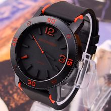 V6 big dial casual fashion watches men luxury brand analog sports military watch silicone quartz relogio masculino reloj hombre