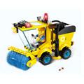 Kids Educational Toys 102pcs set Sweeper Model Assembly Building Blocks Kit Enlighten Puzzle Toy Children Birthday