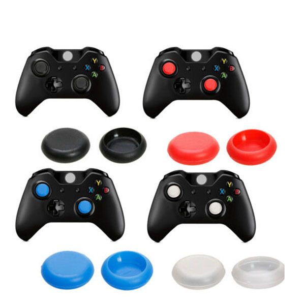 8 x Silicone Analog Controller Thumb Stick Grips Cap Cover For Microsoft  XBOX ONE Game Accessories Replacement Parts