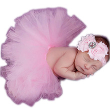 Cute Newborn Photography Props Toddler Baby Girl Tutu Skirt Headband Photo Prop Costume Outfit W1