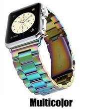 12 видов цветов Мужской ремешок для часов iWatch серии 4/3/4 2/1 из нержавеющей стали, женский ремешок для часов apple Watch 38 мм 40 мм 42 мм 44 мм(Китай)